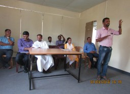 Mr.Shaju.K.K, Head, Quality Team addressing Neera batch students