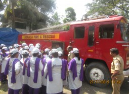 Unarmed Security Batch students visiting Fire Station, Kadavanthra